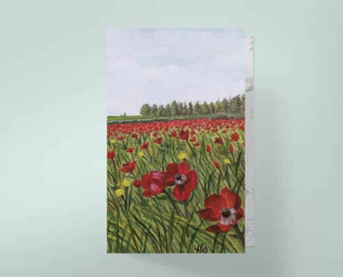 Anemone Field Painting